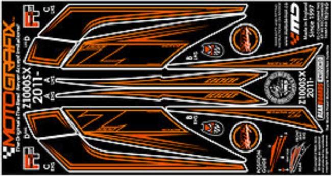 【ポイント5倍開催中!!】MOTOGRAFIX モトグラフィックス ステッカー・デカール ボディーパッド Ninja1000[Z1000SX](11-)