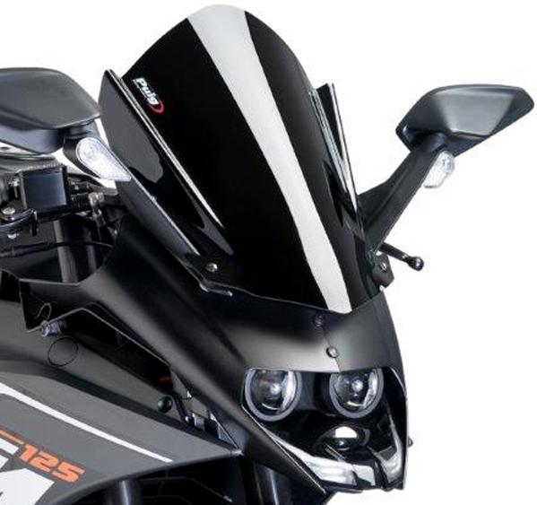 Puig プーチ レーシングスクリーン カラー:ブラック RC125 RC390