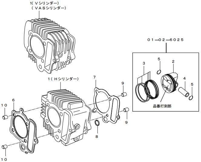 SP武川 SPタケガワ シリンダーキット(V-TYPE/106cc)