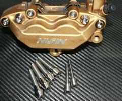 TITANIUM64 チタニウム64 ブレーキパッドピン・キャリパーブリッジボルトセット 1400GTR