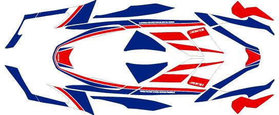 MDF エムディーエフ 車種別グラフィックデカールキット 15PCXトリコロール PCX125 PCX150