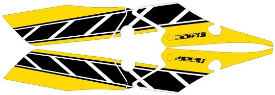 MDFエムディーエフ グラフィックキット  車種別グラフィックデカールキット FZ1 FAZER ストロボ MDF エムディーエフ 車種別グラフィックデカールキット FZ1 FAZER ストロボ フロントサイド部分、左右セット FZ1 FAZER YAMAHA ヤマハ