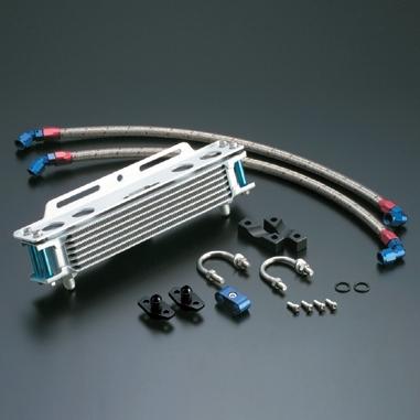 ACTIVE アクティブ オイルクーラー本体 ストレートオイルクーラーキット コアカラー:シルバー サイズ:#6 9インチ13段 CB1100F CB900F