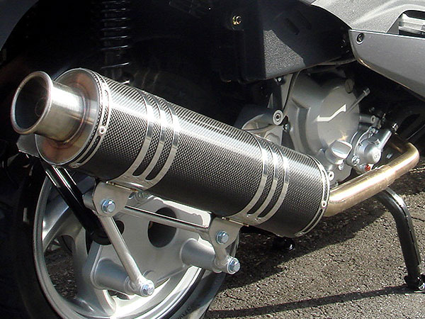 RSヨコタ レーシングショップヨコタ フルエキゾーストマフラー RSYビッグホーンブラックカーボン:シルバーウイング400(NF01・排気バルブ有り)用マフラー SILVERWING400 [シルバーウィング]