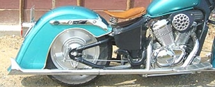 American Dreams アメリカンドリームス フルエキゾーストマフラー 2in1 ストレートフィッシュマフラー 高音タイプ スティード400 スティード600