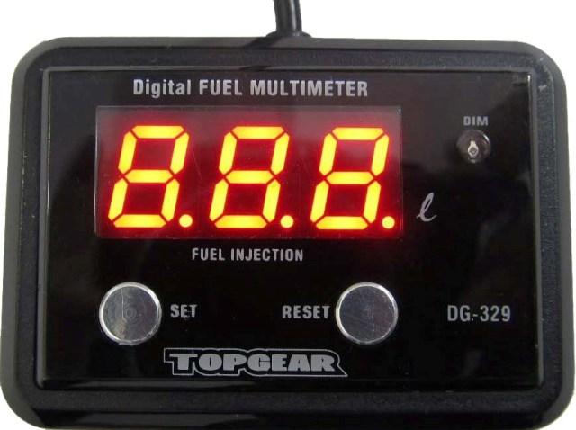 PROTEC プロテック その他メーター関連 DG-329 12V Fi車専用精密燃料計 デジタルフューエルマルチメーター タンク容量99.9L 以下用