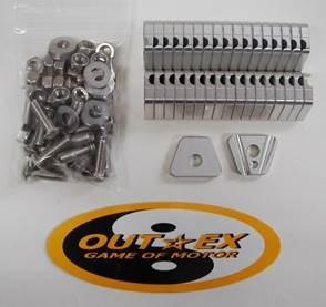 OUTEX アウテックス ホイール関連パーツ スポークブースター カラー:クリアーアルマイト DR-Z400 SM /リア用