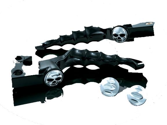 Kuryakyn クリアキン Zombie レバー(ブラック) TOURING [ツーリング] FLTR ROADGLIDE[ロードグライド] 08-12 FLHX STREETGLIDE[ストリートグライド] 08-12 FLHR ROADKING[ロードキング] 08-12