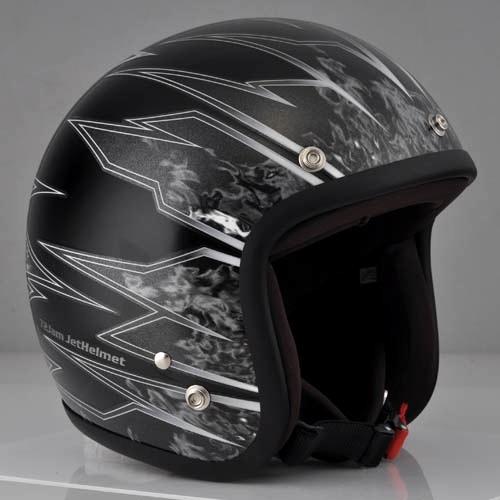 72JAM 72ジャム ジェットヘルメット STING BLACK スティング ブラック