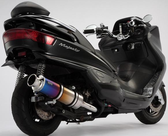 BEAMS ビームス SS400 フルエキゾーストマフラー サイレンサー:チタン マジェスティ250(SG03J)