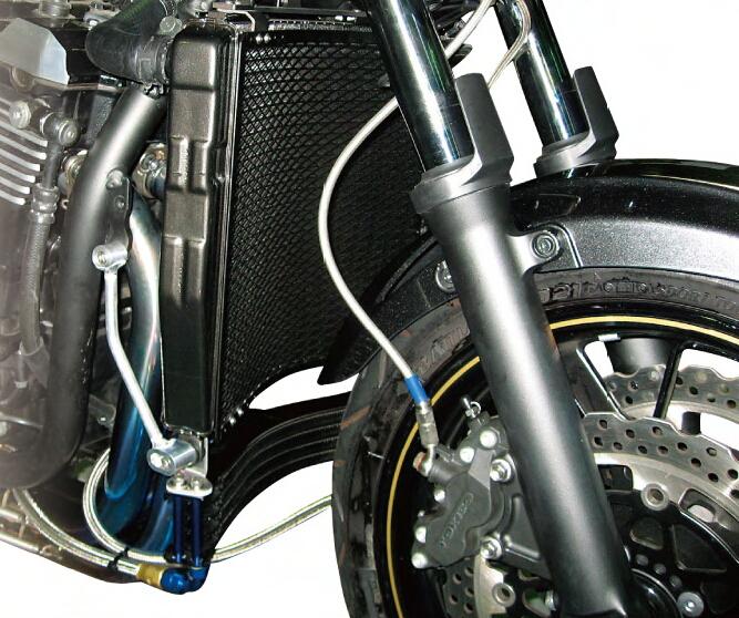 PLOT プロト ラジエーター本体 ラウンドラジエータ カラー:シルバー ZRX1200 DAEG [ダエグ]