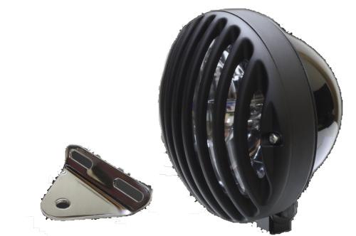 ガレージT&F ヘッドライト本体・ライトリム/ケース 5.75インチバードゲージヘッドライト&ライトステーキット タイプA ハードゲージカバー:アルミ製、ブラック仕上げ ヘッドライト:ブラック仕上げ スティード400 スティード400 VSE