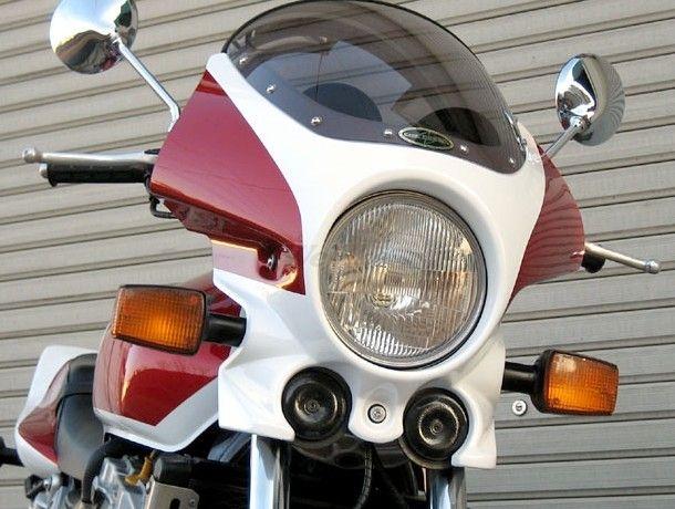 CHIC DESIGN シックデザイン ビキニカウル・バイザー マスカロード カラー:スモーク カラー:未塗装(ブラックゲルコート) CB1000 SF 92-97