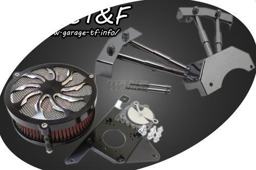 ガレージT&F エンジンカバー ラグジュアリー&プッシュロッドカバーセット タイフーン ドラッグスター400 ドラッグスター400クラシック