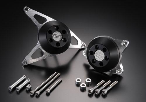 AGRAS アグラス ガード・スライダー レーシングスライダー カラー:ジュラコン/ホワイト FZ1