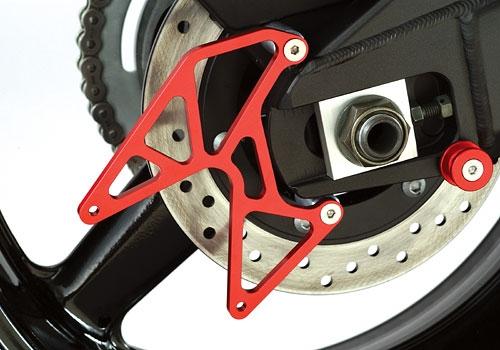 AGRAS アグラス スタンドフック リアスタンドプレート カラー:レッド YZF-R1