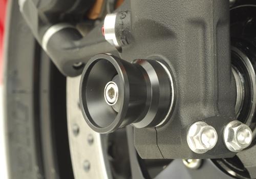 AGRAS アグラス ガード・スライダー フロントアクスルプロテクター カラー:アルミ/ブルー CBR1000RR
