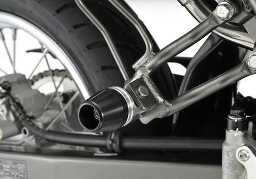 AGRAS アグラス ガード・スライダー タンデムスライダー カラー:ジュラコン/ホワイト Dトラッカー125