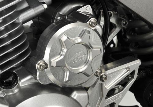 AGRAS アグラス エンジンカバー スターターカバー カラー:ブルー Dトラッカー125