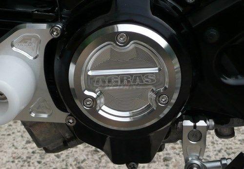 AGRAS アグラス エンジンカバー クランクケースカバー カラー:レッド KSR110