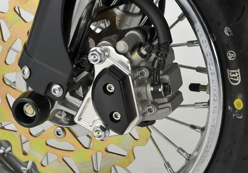 AGRAS アグラス ガード・スライダー キャリパーガード カラー:ジュラコン/ホワイト Dトラッカー125