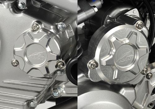 【送料無料】エンジンパーツ Dトラッカー125 AGRAS アグラス 357-481-002BK  【ポイント5倍開催中!!】【クーポンが使える!】 AGRAS アグラス エンジンカバー カバーセット カラー:ブラック Dトラッカー125