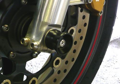 AGRAS アグラス ガード・スライダー アクスルプロテクター カラー:ジュラコン/ホワイト CB1300スーパーフォア