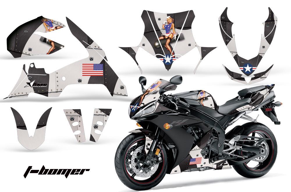 エーエムアール ステッカー・デカール AMR グラフィックデカール(スポーツバイクキット) グラフィックカラー:ブラック YZF-R1