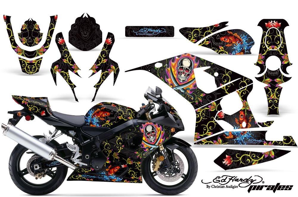 エーエムアール ステッカー・デカール AMR グラフィックデカール(スポーツバイクキット) グラフィックカラー:イエロー GSX-R600 GSX-R750