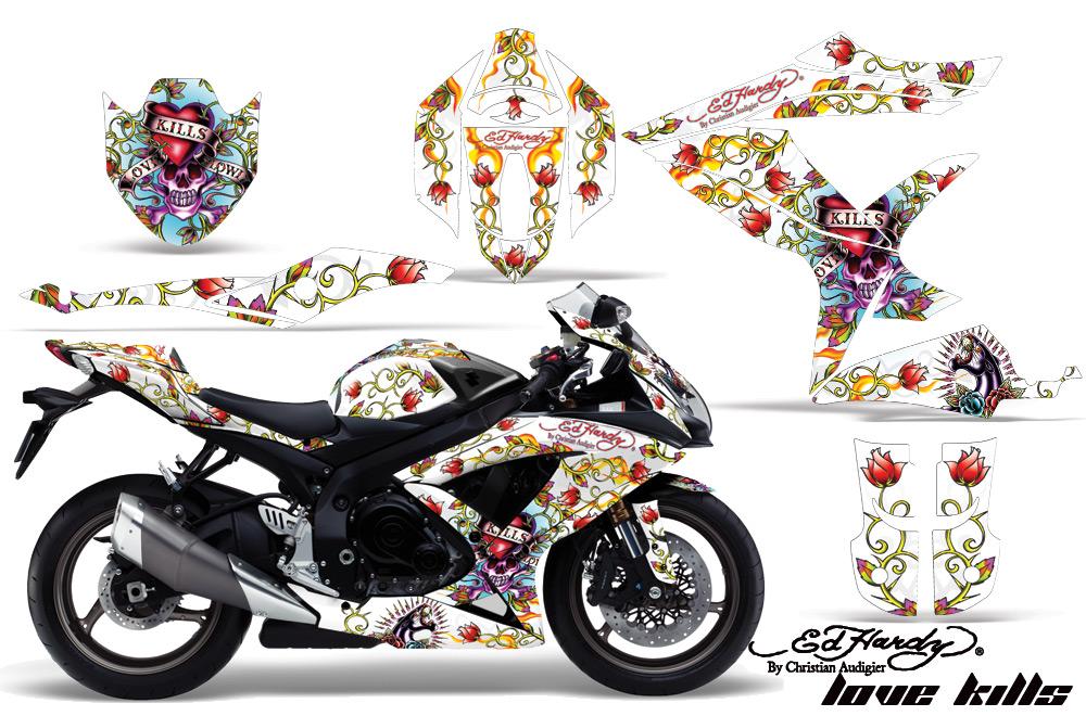 エーエムアール ステッカー・デカール AMR グラフィックデカール(スポーツバイクキット) グラフィックカラー:レッド GSX-R600 GSX-R750