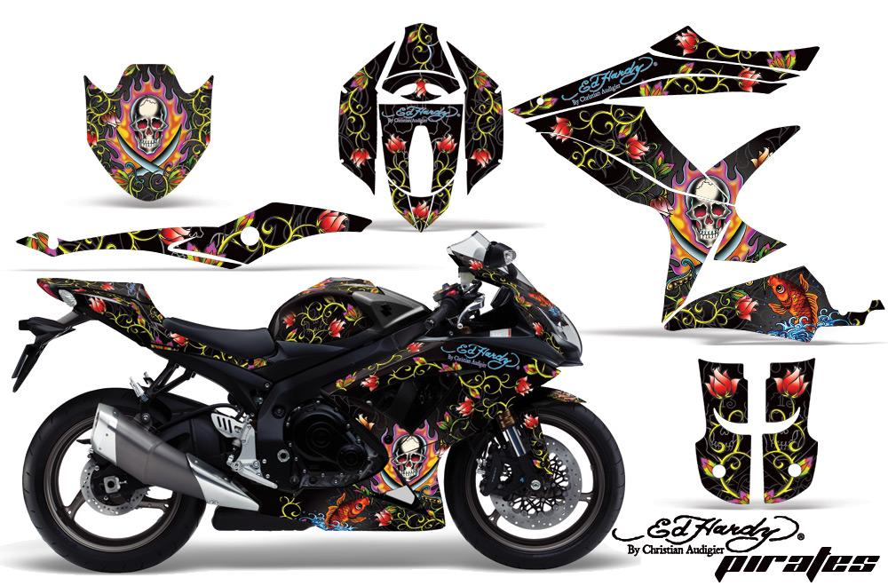エーエムアール ステッカー・デカール AMR グラフィックデカール(スポーツバイクキット) グラフィックカラー:ブラック GSX-R600 750-06-07