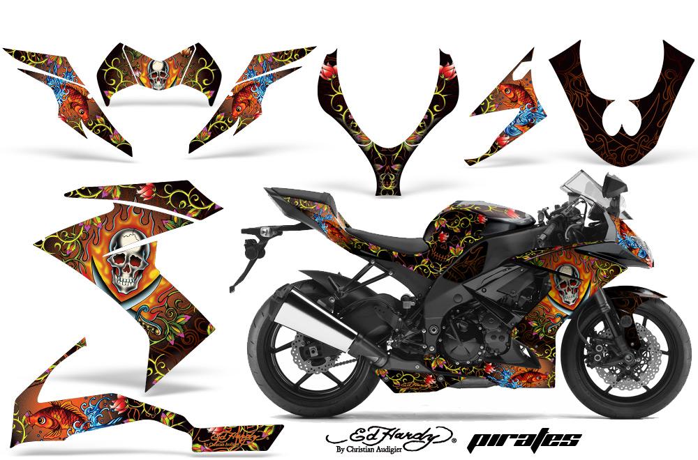 エーエムアール ステッカー・デカール AMR グラフィックデカール(スポーツバイクキット) グラフィックカラー:レッド ZX-10R 08-09