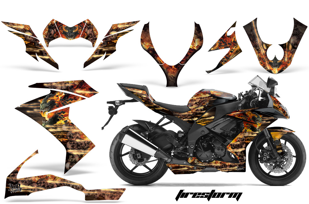 エーエムアール ステッカー・デカール AMR グラフィックデカール(スポーツバイクキット) グラフィックカラー:ブルー ZX-10R 08-09