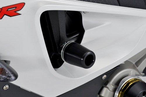 AGRAS アグラス ガード・スライダー レーシングスライダー 3点セット アルミスペーサーカラー:チタン/ジュラコンカラー:ブラック (ロゴ有) S1000RR