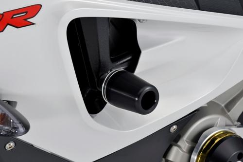 AGRAS アグラス ガード・スライダー レーシングスライダー 5点セット アルミスペーサーカラー:チタン/ジュラコンカラー:ホワイト (ロゴ有) S1000RR