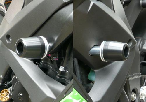 AGRAS アグラス ガード・スライダー レーシングスライダー ジュラコンカラー:ブラック (ロゴ無) ZX-10R