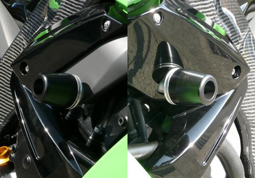 AGRAS アグラス ガード・スライダー レーシングスライダー ジュラコンカラー:ホワイト (ロゴ有) ZX-10R