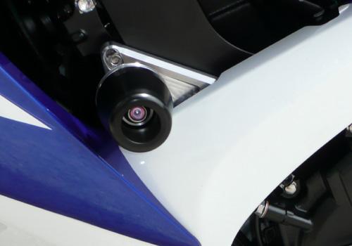 AGRAS アグラス ガード・スライダー レーシングスライダー ジュラコンカラー:ホワイト (ロゴ無) GSX-R750