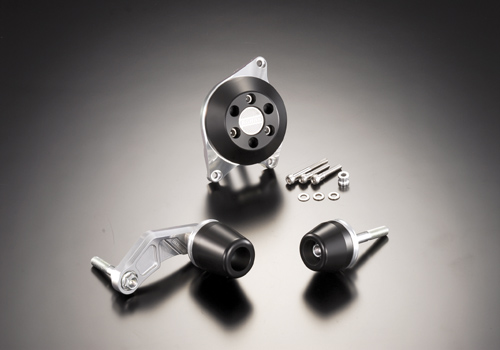 AGRAS アグラス ガード・スライダー レーシングスライダー ジュラコンカラー:ホワイト (ロゴ無) GSX-R600
