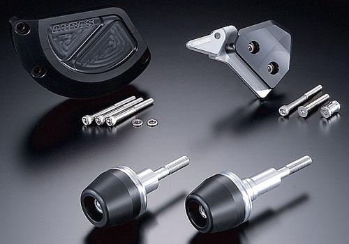 AGRAS アグラス ガード・スライダー レーシングスライダー ジュラコンカラー:ブラック (ロゴ無) GSX-R1000
