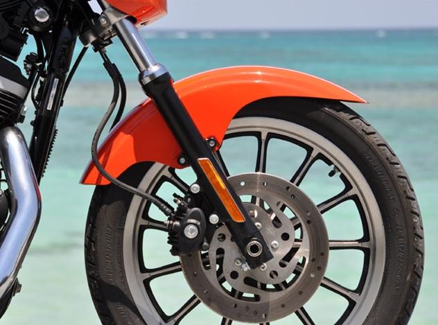 CHIC DESIGN シックデザイン フロントフェンダー ショートタイプ スポーツフェンダー フロント カラー:ミラージュオレンジパール DYNAファミリー