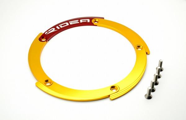 SSK エスエスケー プーリー関連 リヤホイールプーリーカバー カラー:ゴールド/レッド TMAX530