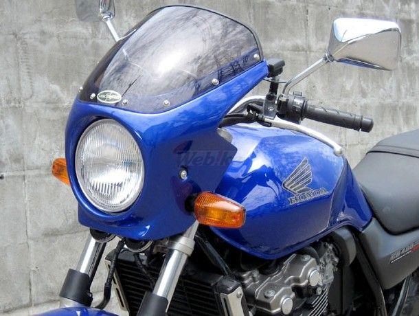 CHIC DESIGN シックデザイン ビキニカウル・バイザー ロードコメット カラー:Cブレイジングレッド/ホワイト/ブラック(CBXカラー) カラー:スモーク CB400SF VTEC SPEC2 02-03