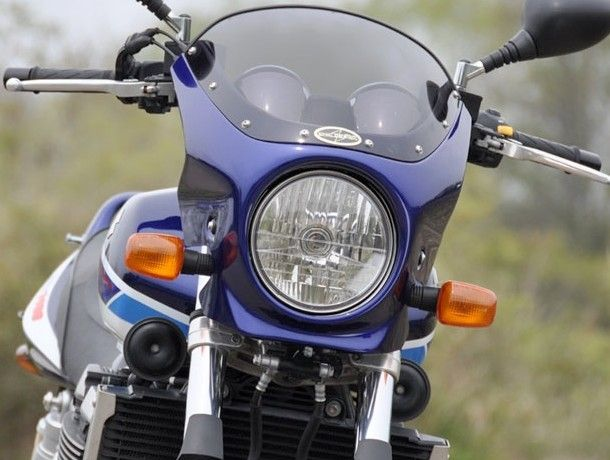 CHIC DESIGN シックデザイン ビキニカウル・バイザー ロードコメット カラー:Pスズキディープブルー/Gスプラッシュホワイト(05青白3トーン) カラー:スモーク GSX1400