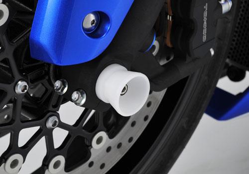 AGRAS アグラス ガード・スライダー フロントアクスルプロテクター カラー:ブラック スライダー部材質:ジュラコン GSX-R1000