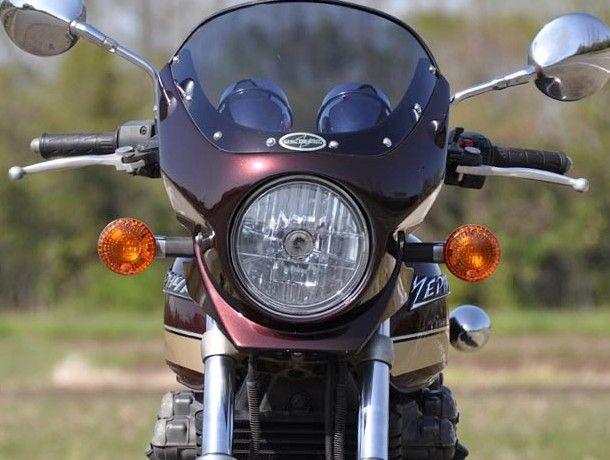 CHIC DESIGN シックデザイン ビキニカウル・バイザー ロードコメット2 カラー:Lチェスナットブラウン/Lタンジェリンオレンジ(火の玉) カラー:クリア ZEPHYR750 [ゼファー] /RS