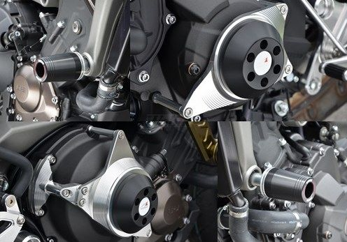 【ポイント5倍開催中!!】AGRAS アグラス ガード・スライダー レーシングスライダーセット ジュラコンカラー:ブラック (ロゴ有) MT-09