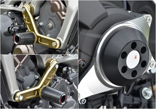 AGRAS アグラス ガード・スライダー レーシングスライダーセット ジュラコンカラー:ホワイト (ロゴ有) MT-09