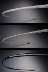 【在庫あり】【イベント開催中!】 ALCAN hands アルキャンハンズ スロットルワイヤー・クラッチワイヤー・チョークケーブル メッシュスロットルワイヤー サイズ:200mmロング GS400