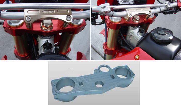 antlion アントライオン トップブリッジ カラー:チタンブルー XR250 XR250モタード